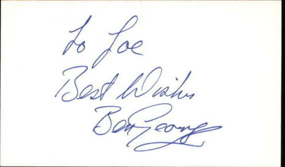 "Ben George As the World Turns Signed 3""x5"" Index Card"