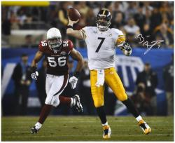 Signed Ben Roethlisberger Picture - Super Bowl XLIII 16x20 Mounted Memories