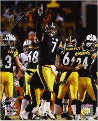 Ben Roethlisberger Pittsburgh Steelers AFC Championship Game Autographed 8'' x 10'' Finger Photograph  - Mounted Memories