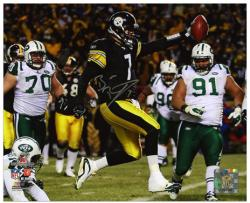 Ben Roethlisberger Pittsburgh Steelers AFC Championship Game Autographed 8'' x 10'' Scoring Photograph  - Mounted Memories