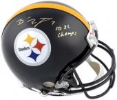 Pittsburgh Steelers Ben Roethlisburger Super Bowl XL Champs Autographed Helmet - Mounted Memories