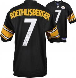 Ben Roethlisberger Signed Jersey - Reebok Black Mounted Memories
