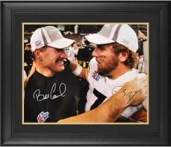 "Ben Roethlisberger & Bill Cowher Pittsburgh Steelers Dual Signed 16"" x 20"" Super Bowl XL Photograph"
