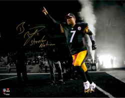 "Ben Roethlisberger Pittsburgh Steelers Autographed 11"" x 14"" Out of Tunnel Spotlight Photograph with Steeler Nation Inscription"