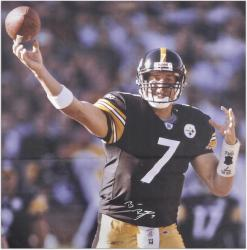 Ben Roethlisberger Pittsburgh Steelers Autographed 68x59 Canvas