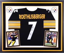 Ben Roethlisberger Pittsburgh Steelers Autographed Deluxe Framed Black Jersey