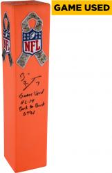 Ben Roethlisberger Pittsburgh Steelers Autographed Game-Used Northeast Goal Line Pylon