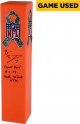 Ben Roethlisberger Pittsburgh Steelers Autographed Game-Used Northwest Corner Pylon