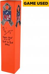 Ben Roethlisberger Pittsburgh Steelers Autographed Game-Used Northwest Goal Line Pylon