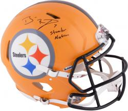 Ben Roethlisberger Pittsburgh Steelers Autographed Riddell Pro-Line Speed Helmet with Steeler Nation Inscription