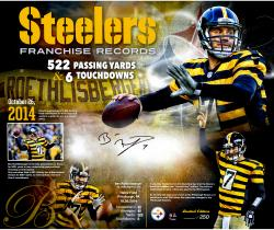 "Ben Roethlisberger Pittsburgh Steelers Autographed Team Record 20"" x 24"" Limited Edition 1 of 7 Photograph"