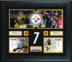 "Ben Roethlisberger Pittsburgh Steelers Becomes The First Quarterback In NFL History To Throw 6 Touchdown Passes In Back To Back Games 20"" X 24"" Collage With Game-Used Football - Limited Edition of 250"