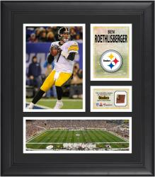 Ben Roethlisberger Pittsburgh Steelers Framed 15'' x 17'' Collage with Game-Used Football - Mounted Memories