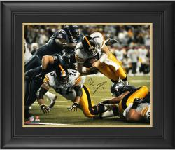 "Ben Roethlisberger Pittsburgh Steelers Framed Autographed 16"" x 20"" Super Bowl XL Dive Shot Photograph"