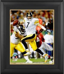 "Ben Roethlisberger Pittsburgh Steelers Framed Autographed 16"" x 20"" Vertical Super Bowl XLIII Running Photograph"