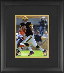 "Ben Roethlisberger Pittsburgh Steelers Framed Autographed 8"" x 10"" vs. Cleveland Browns Photograph"