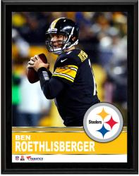 Ben Roethlisberger Pittsburgh Steelers Sublimated 10.5'' x 13'' Plaque - Mounted Memories