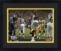 "Framed Ben Roethlisberger Pittsburgh Steelers Super Bowl XL Autographed 8"" x 10"" Spike Shot Photograph-Limited Edition of 250"