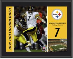 Pittsburgh Steelers Ben Roethlisberger 10.5'' x 13'' Sublimated Plaque - Mounted Memories