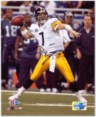 Ben Roethlisberger Pittsburgh Steelers Super Bowl XL Autographed 8'' x 10'' Passing Photograph - Mounted Memories