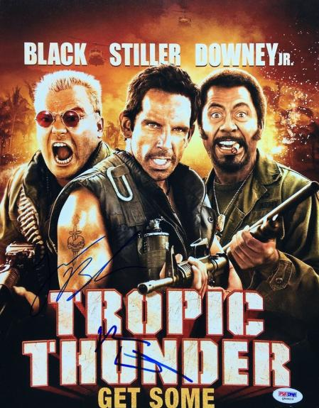 Ben Stiller & Jack Black Signed 'Tropic Thunder' 11x14 Photo PSA Q50610