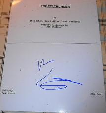 "Ben Stiller Signed Autograph ""tropic Thunder"" Full 108 Page Movie Script Coa"