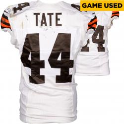 Ben Tate Cleveland Browns White Game-Used Jersey September 7, 2014 vs. Pittsburgh Steelers
