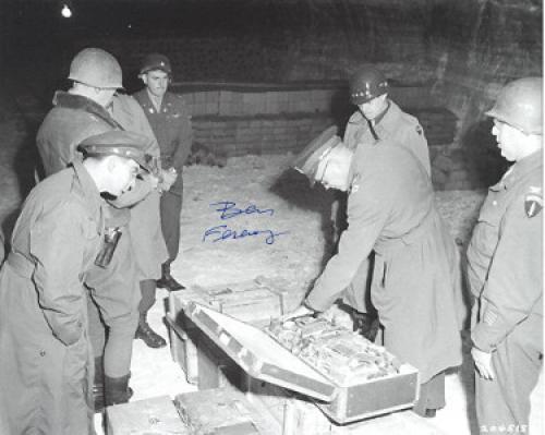 Ben/Benjamin Ferencz signed WWII 8x10 Photo- PSA Holo #AD55322 (w/ Gen Dwight D Eisenhower/ Nuremberg Trials)