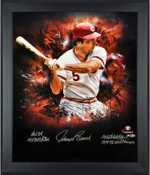 Johnny Bench Cincinnati Reds Framed Autographed 20'' x 24'' In Focus Photograph with Multiple Inscriptions-Limited Edition of 12 - Mounted Memories