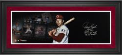 Johnny Bench Cincinnati Reds Framed Autographed 10'' x 30'' Filmstrip Photograph with Multiple Inscription-Limited Edition of 12 - Mounted Memories