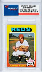 BENCH, JOHNNY (1975 TOPPS MINI # 260) CARD - Mounted Memories