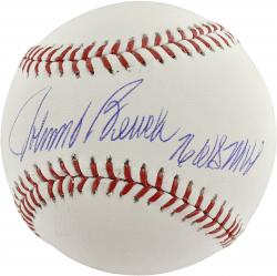 Johnny Bench Cincinnati Reds Autographed Baseball with 76 WS MVP Inscription - Mounted Memories