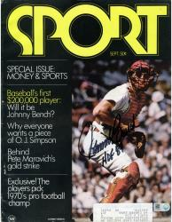 Johnny Bench Cincinnati Reds Autographed Money & Sports Magazine with HOF 89 Inscription - Mounted Memories