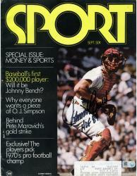 Johnny Bench Cincinnati Reds Autographed Money & Sports Magazine with HOF 89 Inscription