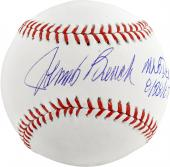 Johnny Bench Cincinnati Reds Autographed Baseball MLB Debut 8/28/67 Inscription - Mounted Memories