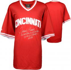 Johnny Bench Cincinnati Reds Autographed Red Throwback Jersey with Multiple Inscription-Limited Edition of 12 - Mounted Memories