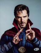 "Benedict Cumberbatch Autographed 8"" x 10"" Doctor Strange Up Close Hands Up Photograph - Beckett COA"