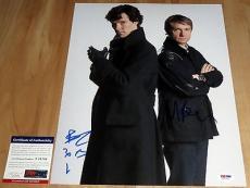 Benedict Cumberbatch & Martin Freeman Signed 11x14 Sherlock Watson PSA/DNA