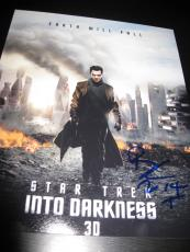 BENEDICT CUMBERBATCH SIGNED AUTOGRAPH 8x10 INTO DARKNESS PROMO IN PERSON COA J