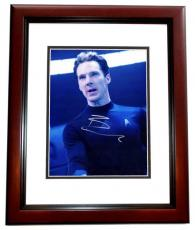 Benedict Cumberbatch Signed - Autographed Star Trek Into Darkness Khan 8x10 Photo MAHOGANY CUSTOM FRAME