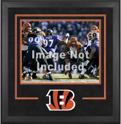Cincinnati Bengals Deluxe 16'' x 20'' Horizontal Photograph Frame with Team Logo - Mounted Memories