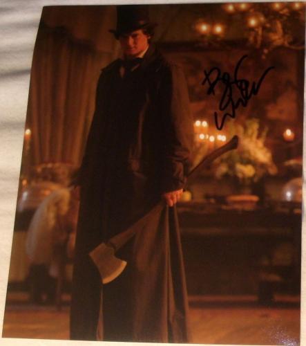 "Benjamin Walker Signed ""abraham Lincoln Vampire Hunter"" Classic Hat Ax Photo Coa"