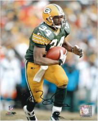 Edgar Bennett Green Bay Packers Autographed 8'' x 10'' Running Photograph - Mounted Memories