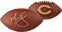 Martellus Bennett Chicago Bears Autographed Football - Mounted Memories