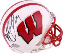 Michael Bennett Wisconsin Badgers Autographed Riddell Mini Helmet