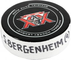 Sean Bergenheim Florida Panthers 1/4/14 Game-Used Goal Puck vs. Nashville Predators