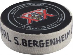 Sean Bergenheim Florida Panthers 3/25/14 Game-Used Goal Puck vs. Ottawa Senators