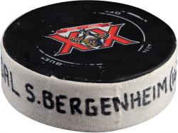 Sean Bergenheim Florida Panthers 4/4/14 Game-Used Goal Puck vs. Dallas Stars
