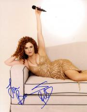 Bernadette Peters Autographed Signed 11x14 Gold Dress Photo AFTAL UACC RD COA