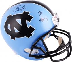Giovani Bernard North Carolina Tar Heels Autographed Riddell Replica Helmet with Go Heels Inscription - Mounted Memories